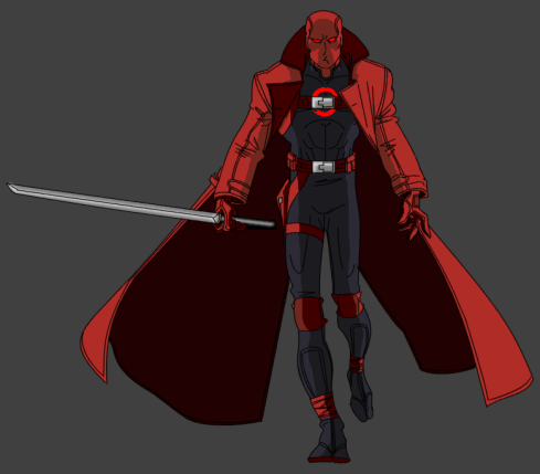 This was adapted from my original concept of the character of Ranger Zero. It all came from this piece.
