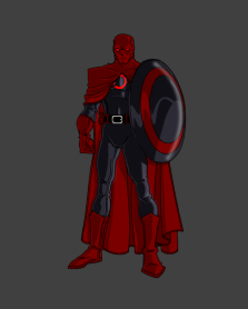 My favorite version. A combination of Batman and Captain America.