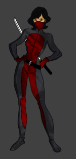 The Great Granddaughter of 1961 R0. She uses a hightech stealth suit to infiltrate, and gather evidence on street gangs and organized crime. She has no problem dismembering criminals.
