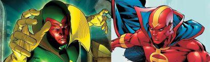 The Vision & Red Tornado (Marvel / DC)